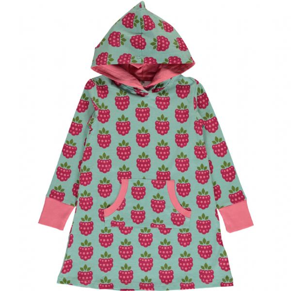 Maxomorra Hoodie Dress Raspberry